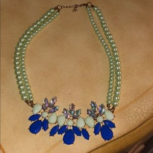 Designer inspired jeweled necklace